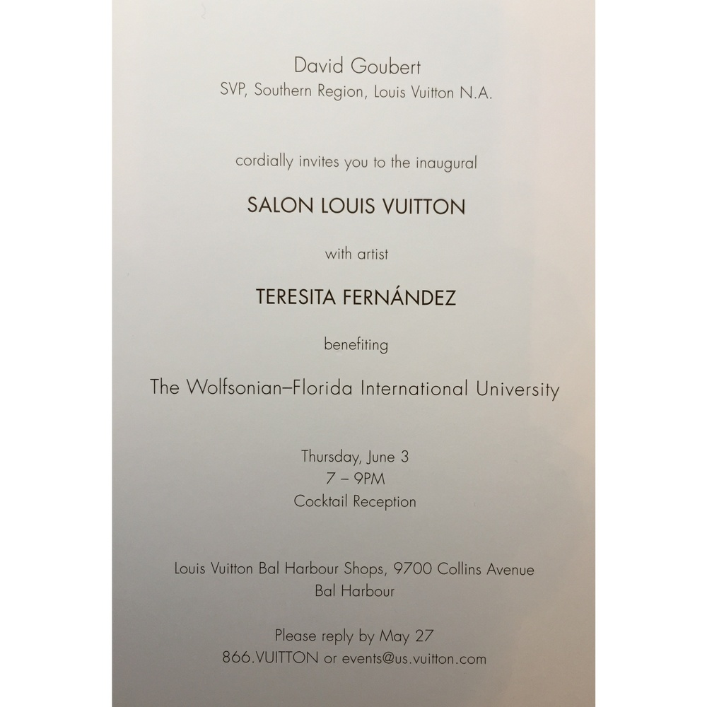 LV event for Teresita Fernandez Host committee