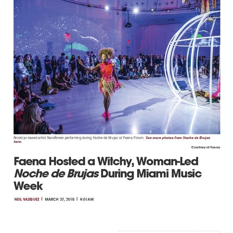 Faena Hosted a Witchy, Woman-Led Noche de Brujas During Miami Music Week