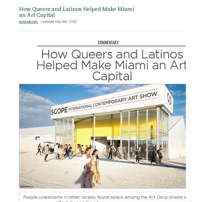 How Queers and Latinos Helped Make Miami an Art Capital