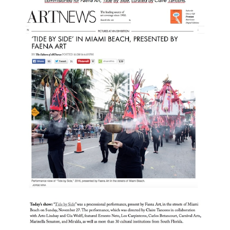 'Tide by Side' in Miami Beach, Presented by Faena Art